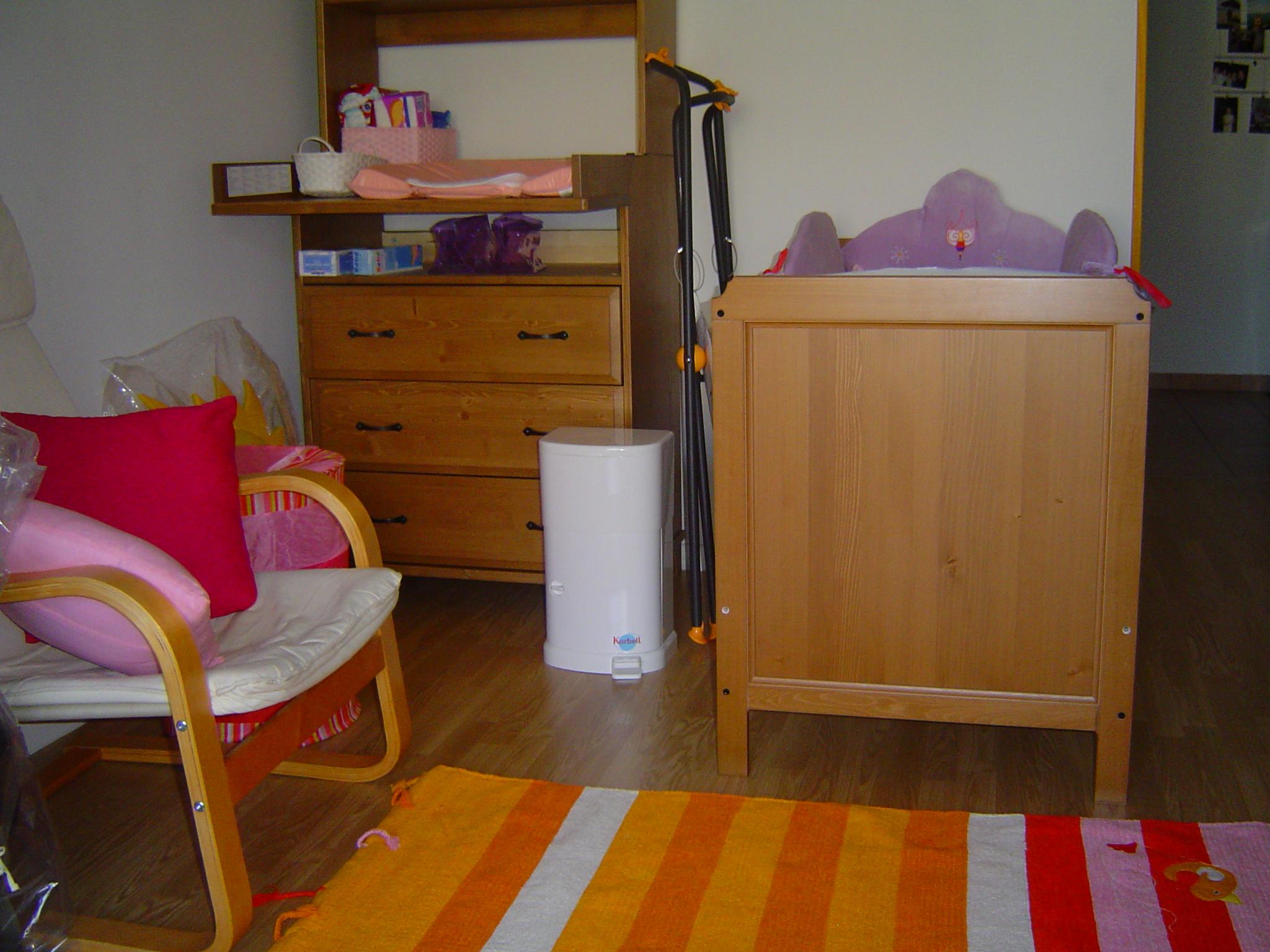 ma nouvelle chambre, il faut venir la voir!!!